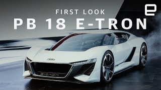 Download Audi's PB 18 E-Tron is a supercar spaceship Video