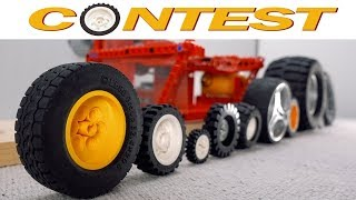 Download Spinning Contest with 10 Lego Wheels Video