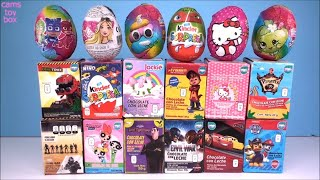 Download Chocolate Surprise Eggs Paw Patrol Hello Kitty PowerPuff Girls PJ MASKS KINDER Shopkins Jackie TOYS Video