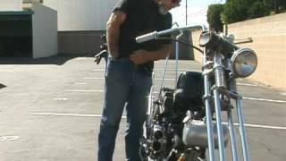 Download How to Kick Start a 1966 Harley-Davidson Custom Chopper Video