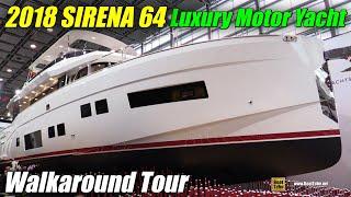 Download 2018 Sirena 64 Luxury Motor Yacht - Walkaround - 2018 Boot Dusseldorf Boat Show Video