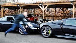 Download Porsche 918 Spyder rolls into Porsche 911! Video