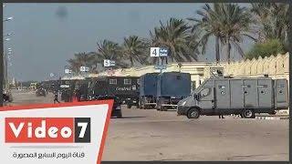 Download إجراءات أمنية مشددة أمام استاد برج العرب Video