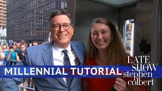 Download Stephen Colbert's Millennial Tutorial: Pay Phone Edition Video