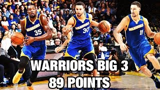 Download Stephen Curry, Kevin Durant, & Klay Thompson Put up 89 Points! Video