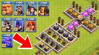 Download Who Can Survive This Difficult Trap on COC? Trap VS Troops #11 Video