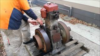 Download MARS 5HP DIESEL ENGINE - 1st Start Up in 50 Years! Video