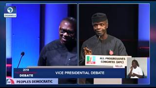 Download Vice-Presidential Debate Pt.8: Peter Obi, Osinbajo Disagree Over Subsidy On Petroleum Products Video