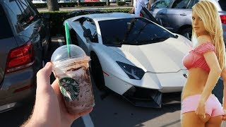 Download PICKING UP GIRLS, REACTIONS, and STARBUCKS in the Novitec Aventador | SSIH Ep.16 Video