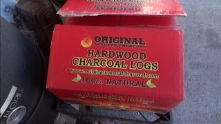 Download SDSBBQ - Using ″Original Natural Charcoal″ Hardwood Charcoal Logs for the first time Video