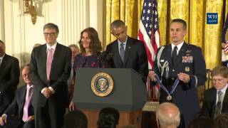 Download Bill And Melinda Gates Awarded Medal Of Freedom Video