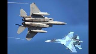 Download F-15's Scramble to Intercept Russian Jet Fighters Video