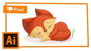 Download Рисуем спящего лисенка в Adobe Illustrator Video
