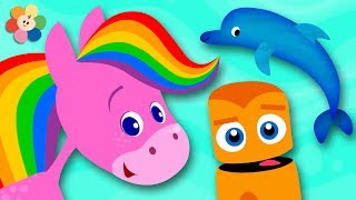 Download Learn Colors with Animals | Rainbow Horse and Color Crew | Learn Colors for Toddlers by BabyFirst Video