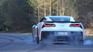 Download Chevrolet Corvette C7 doing great BURNOUTS! Video