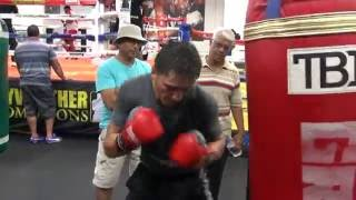 Download TMT fighter Ronald Gavril on the heavy bag Video