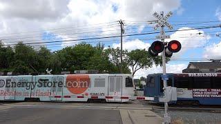 Download [New E-Bell] SACRT 234 Light Rail Inbound, 51st St. Railroad Crossing, Sacramento CA Video