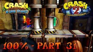 Download Crash Bandicoot 2 - N. Sane Trilogy - 100% Walkthrough, Part 31: Piston It Away (Both Gems) Video