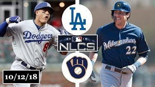 Download Los Angeles Dodgers vs Milwaukee Brewers Highlights || NLCS Game 1 || October 12, 2018 Video