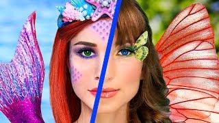 Download Makeup Challenge! 8 DIY Mermaid Makeup vs Butterfly Makeup Video