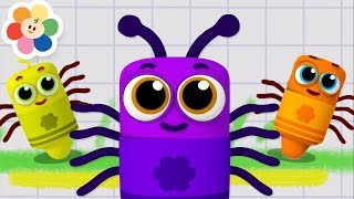 Download Itsy Bitsy Spider | Nursery Rhymes Collection With Color Crew Babies | Kids Songs by Baby First TV Video