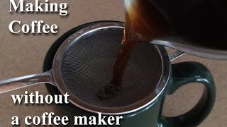 Download Making Coffee Without A Coffeemaker On the Stove GemFOX Food Stovetop | Campfire | Primitive Coffee Video