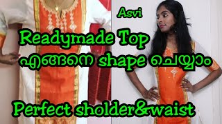 Download Readymade Top എങ്ങനെ shape ചെയ്യാം|How to alter kurtha/salwartop perfectly|How to attach sleeve|Asvi Video
