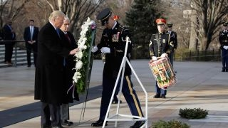 Download Trump, Pence honor the Tomb of the Unknowns Video