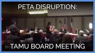 Download PETA Protesters Disrupt Texas A&M Board of Regents Meeting Video