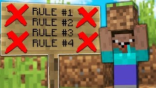 Download BREAKING EVERY RULE IN MINECRAFT! Video