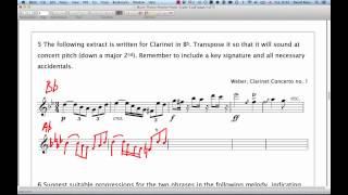 Download ABRSM Music Theory Grade 5   Question 5   Transposition Video