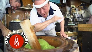 Download Pounding Mochi with the Fastest Mochi Maker in Japan Video