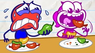 Download Is Pencilmate Cheating in Chili Eating?! - New Pencilmation Cartoons for Kids Video