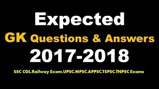 Download Expected General Knowledge Questions And Answers For SSC CGL 2018 Video