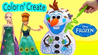 Download Frozen Olaf Snowman Disney Inkoos Washable Color n Create Drawing Plush Unboxing Queen Elsa Anna Video