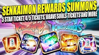 Download SENKAIMON REWARDS 5 STAR TICKET, 4/5 TICKETS, BRAVE SOULS TICKETS and MORE! Bleach Brave Souls Video
