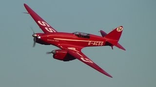 Download DH.88 Comet ″Grosvenor House″ at Old Warden 7th September 2014 Video