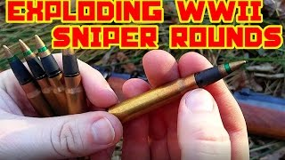 Download EXPLODING WW2 Sniper Ammunition - 8mm Video