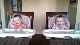 Download 11 Month Old Twins Dancing to Daddy's Guitar Video