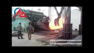 Download forging steel with 5000 ton hydraulic metal forming machine Video