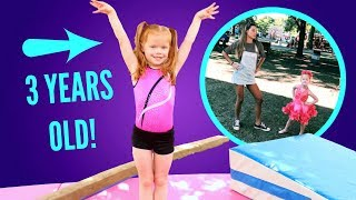 Download Maggie Teaches Her Sister Gymnastics! Video