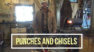 Download Blacksmithing tools, forging a hot chisel and round punch Video