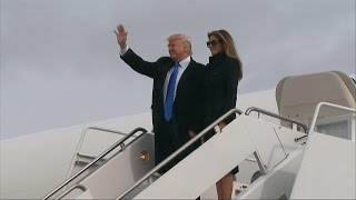 Download Donald Trump Arrives in Washington on the Eve of the Presidential Inauguration Video
