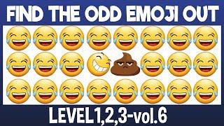 Download Find The Odd Emoji Out:3Levels1,2,3-vol6 Spot The Difference Emoji Emoji Puzzle Quiz Video