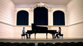 Download HD: Mozart's SONATA for TWO PIANOS - Anderson & Roe Video