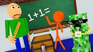 Download Monster School : STICKMAN & BALDI'S BASICS CHALLENGE - Minecraft Animation Video