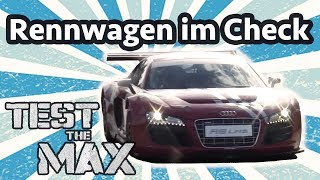 Download Max auf der Rennstrecke: Audi R8 LMS, Mini X-Raid & Nissan Juke R | Test the Max Video
