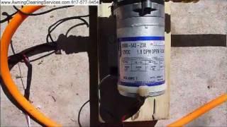 Download Testing A Shurflo 12 volt Water Pump on a Sprayer Dallas Fort Worth TX DFW Video