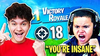 Download So I Carried Kaylen to a WIN on Fortnite (MindofRez's Little Brother) Video