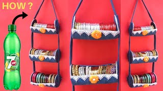 Download Bangle Holder making at Home with Plastic Bottle & old Jeans | Best out of waste Video